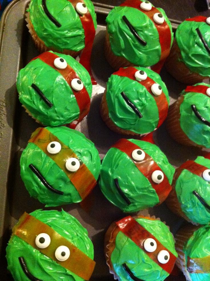 Teenage Mutant Ninja Turtle Cupcakes Orange And Red Fruit