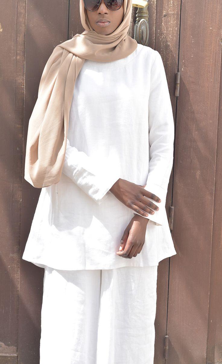 Robe longue de tattoo pictures to pin on pinterest - Blouse M Dine Lin Blanc Ramadan 2017 Lookbook Grande Mosqu E De Paris Vestiaire De La Femme