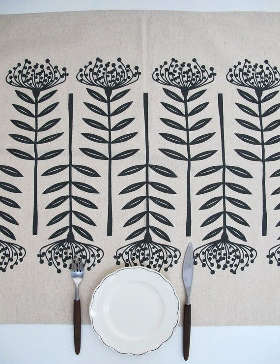 Table Runner- this would be easy to screen print or stamp