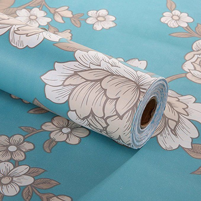 Decorative Floral Contact Paper Self Adhesive Drawer Shelf Liner
