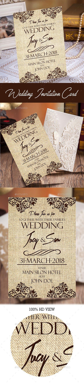 Wedding Invitation Card Template Design Wedding
