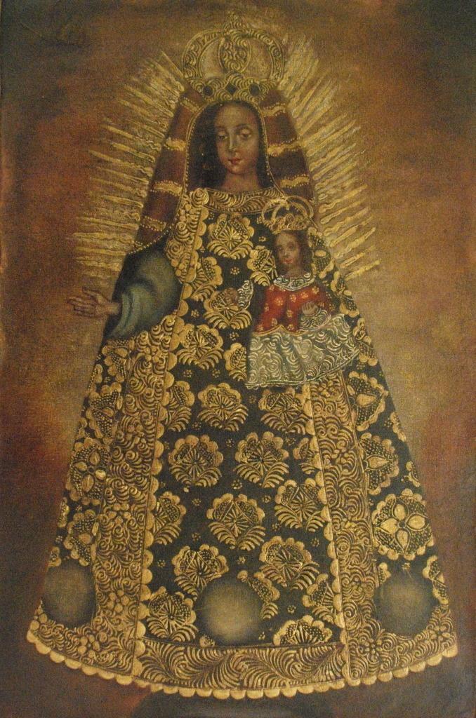 Cuzco Oil Painting Peru Folk Art 15 x 23 Madonna and Child | eBay