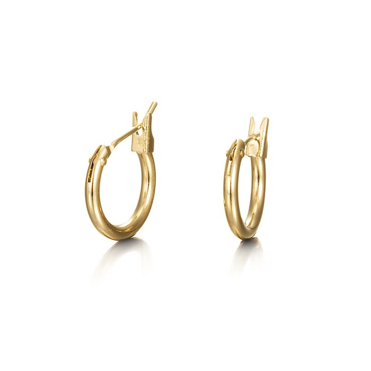 18ct Yellow Gold Layered Child Hoop Earring | Allure Gold