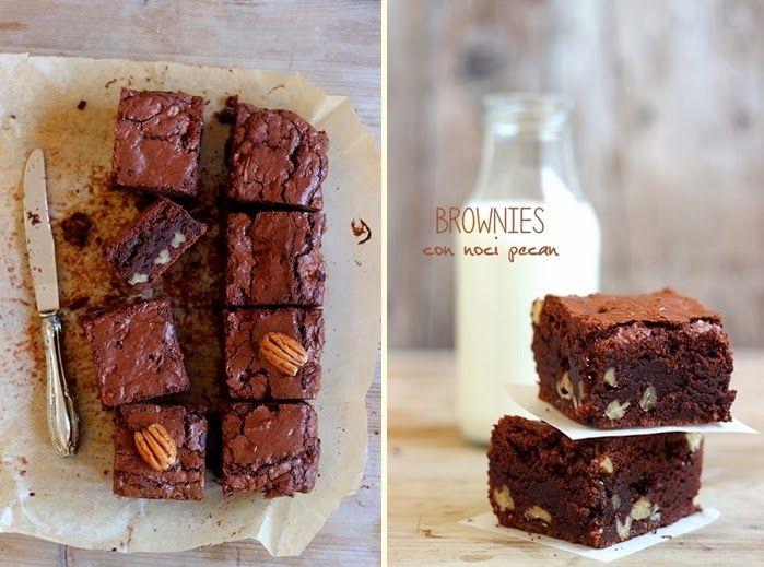 Brownies con noci pecan