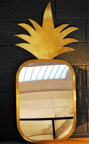 Miroir en forme d'ananas // Mirror like a pineapple