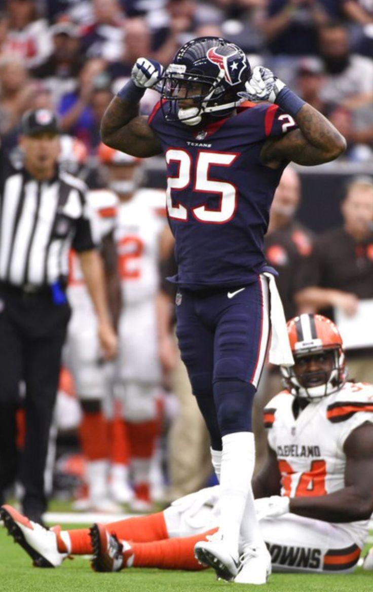 89edd92412a ... jersey for Minnesota Vikings running Kareem Jackson Houston Texans  cornerback Kareem Jackson (25) celebrates stopping Cleveland Browns running  back ...
