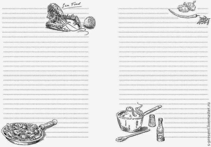 удалось картинки для кулинарной книги черно белые для двери для
