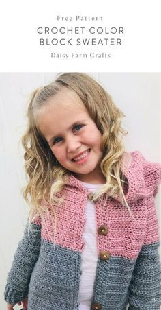 1b705e059 Free Pattern - Crochet Color Block Sweater