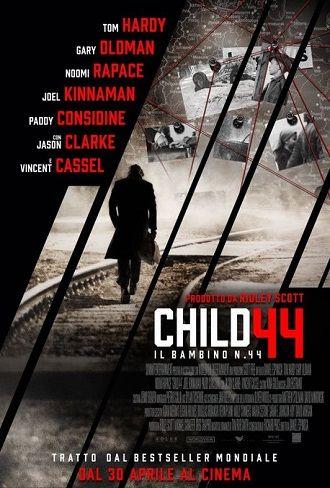 Child 44 Il bambino numero 44 (2015) DRAMMATICO – DURATA 136′ – USA Degradato e trasferito in una città più piccola, Leo, l'agente di polizia segreta, ben presto si imbatte in una serie di omicidi di bambini.