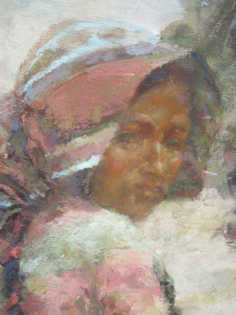 """Eric Michaels Painting """"Little Dreams"""" Garahumara Copper Canyon Mexico Signed #Impressionism"""