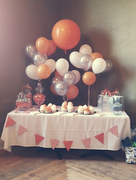 orange party decor.