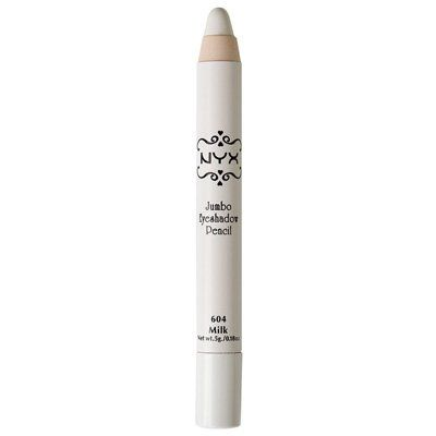 NYX Jumbo Eye Pencil in Milk. Best eyeshadow base for bright colors. THIS stuff is amazing!!