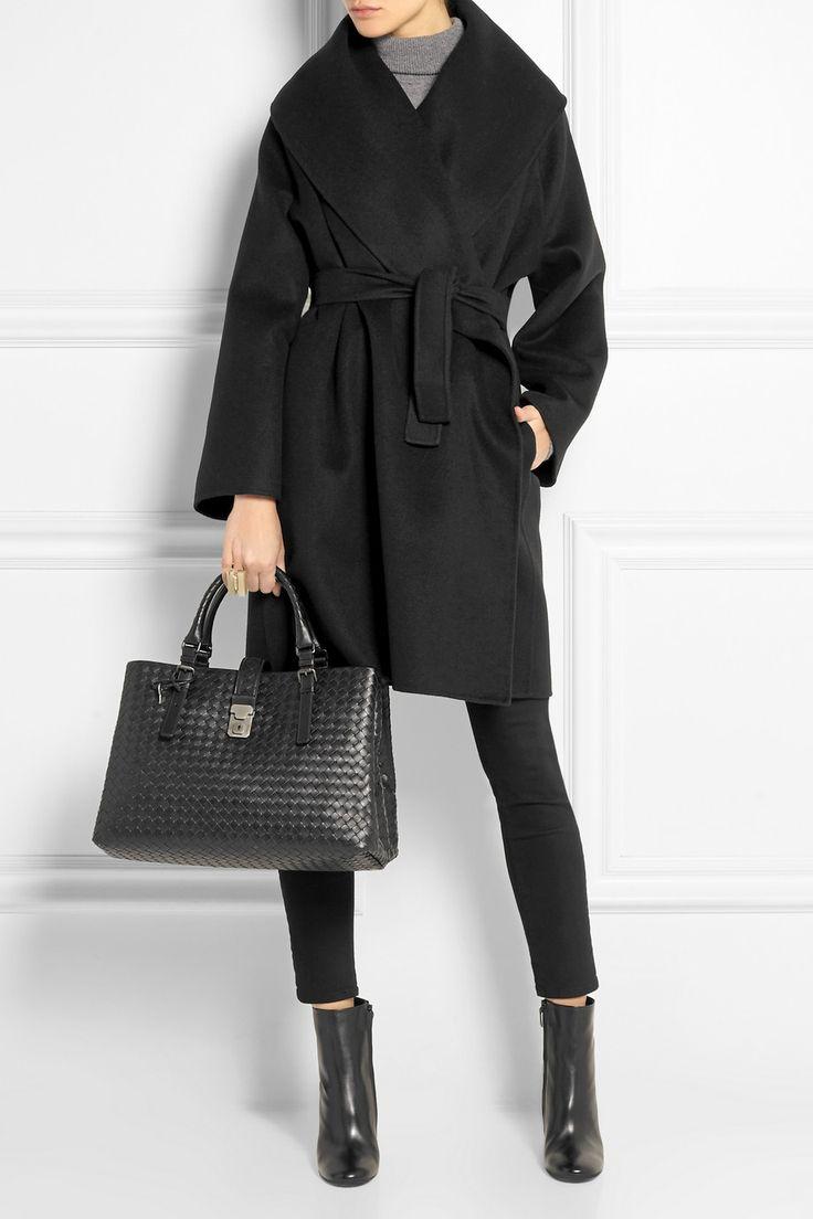 BOTTEGA VENETA Belted double-faced cashmere coat EQUIPMENT Oscar