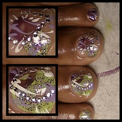 Lavender Dream Hand Painted Nail Art complicated but gorgeous