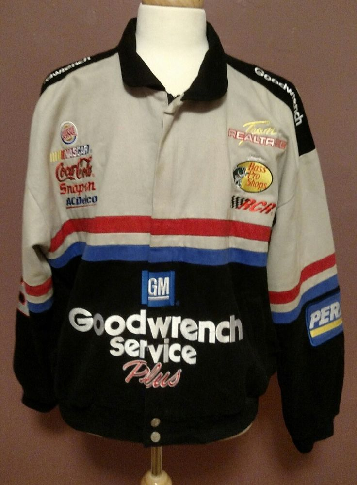 Chase Authentics Men's Dale Earnhardt Lined Zippered NASCAR Jacket Size L #Chase