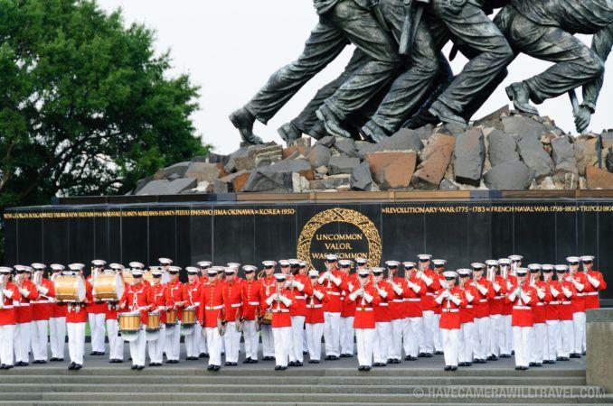 Marine Corps Sunset Parade at the Iwo Jima Memorial | 2017