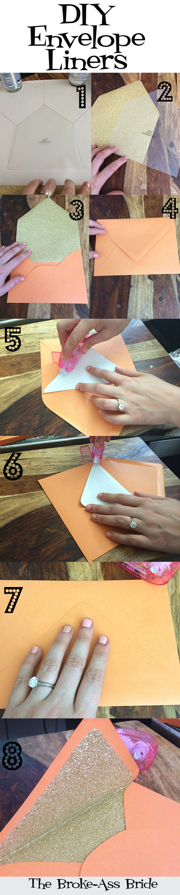 Best of 2014: DIY or DIE: Custom Envelope Liners Full of Sparkle