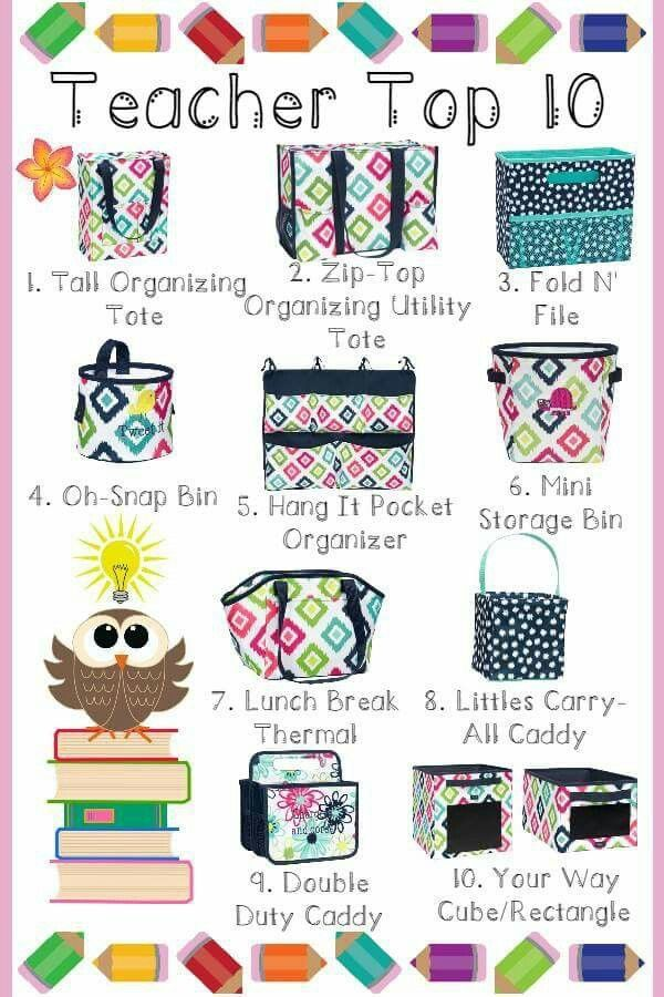 Teacher favorites for Spring/Summer 2017! Organize your classroom in style. Teachers love Thirty-One! #bagdealer www.thebagdealer.com