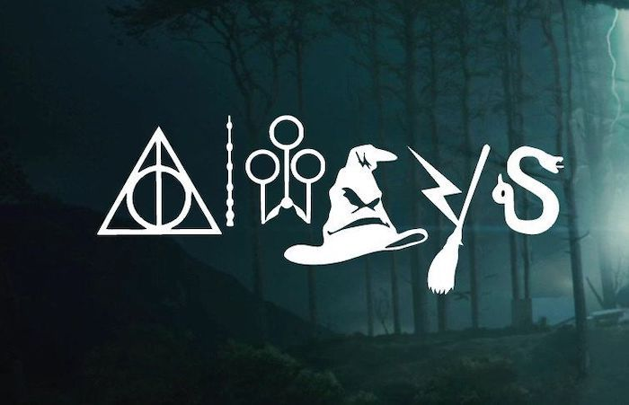 Always Written Over A Picture Of The Dark Forest At Night Harry Potter Iphone Wallpaper In 2020 Harry Potter Symbols Harry Potter Background Harry Potter Wallpaper