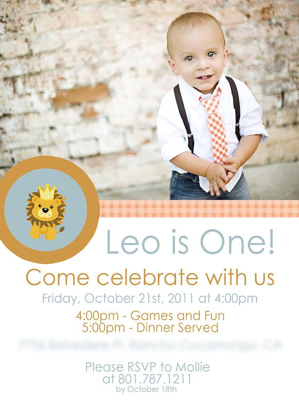 Vintage Lion 1st Birthday Party  Max is a Leo, afterall!