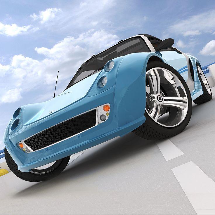 smart roadster brabus traveler 3d model
