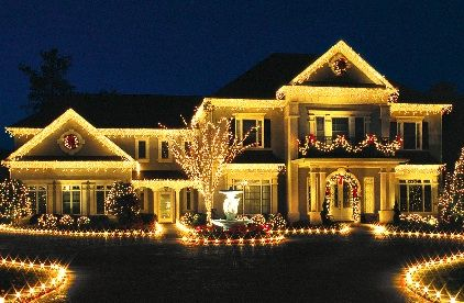 perfect amount of christmas lights; not too many, not too little