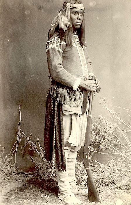 Tonto Apache scout ca. 1886. Arizona. Photo by Frank A. Randall. Source - National Anthropological Archives, Smithsonian.