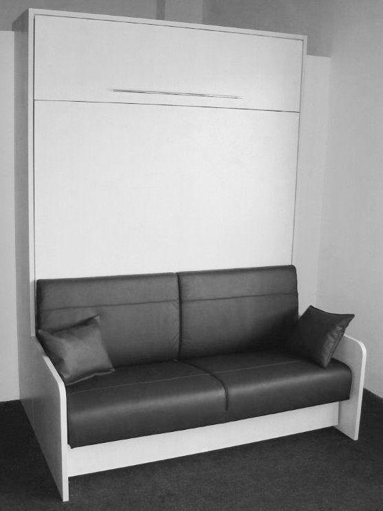 52 best armoire lit gain de place images on pinterest for Lit escamotable bureau integre