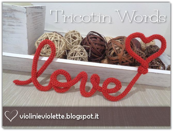tricotin words ♥