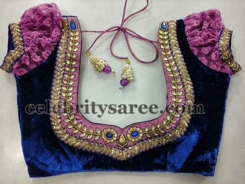 Ruffed Sleeves Saree Blouse Patterns | Saree Blouse Patterns