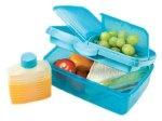 Sistema Slimline Quaddie Lunch Box, Aqua