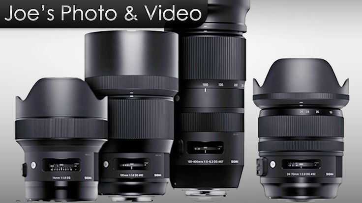 Four New Sigma Lenses Announced - 14mm, 24-70mm, 135mm Art & 100-400mm C...