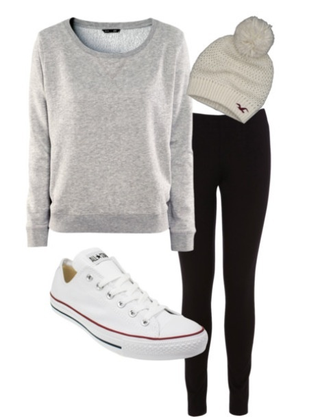Converse and leggings | My Style | Pinterest | White ...
