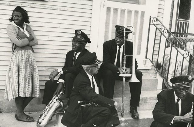 New Orleans Brass Band. (William Carter papers (M2083). Dept. of Special Collections and University Archives, Stanford University Libraries, Stanford, Calif./ William Carter papers, © Stanford University Libraries)