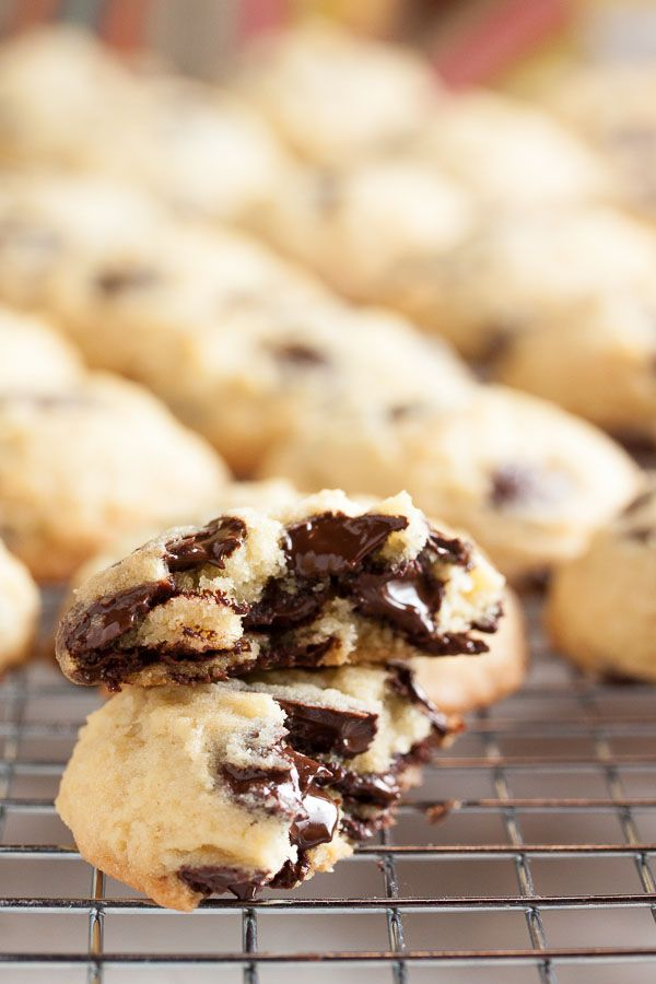 Cakey Chocolate Chip Cookies, beautifully soft and tender, and loaded with lots of chocolate chips in every bite.