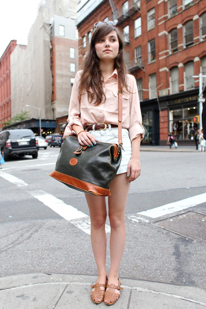 So cute.High Waist, Summer Outfit, Fashion Style, Clothing, Nails Polish, Cute Outfit, Denim Shorts, Ny Street Style, Dreams Closets