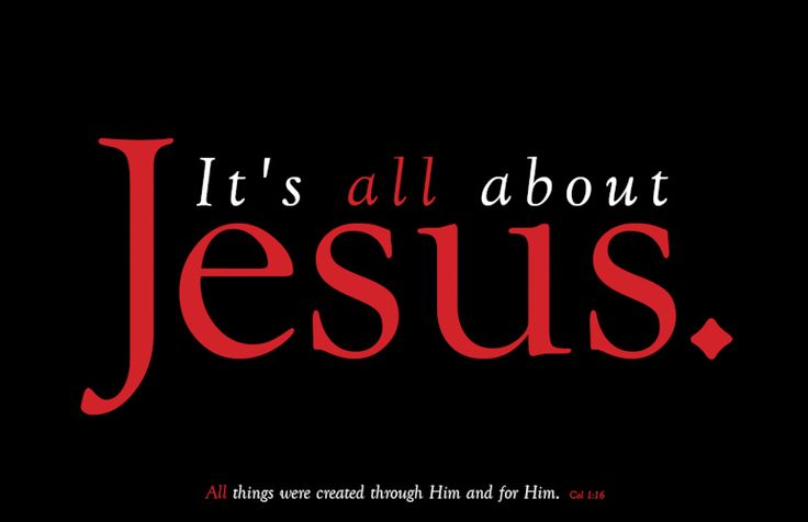 It's All About Jesus Christian Poster. Buy online at www.papermovement.com/posters
