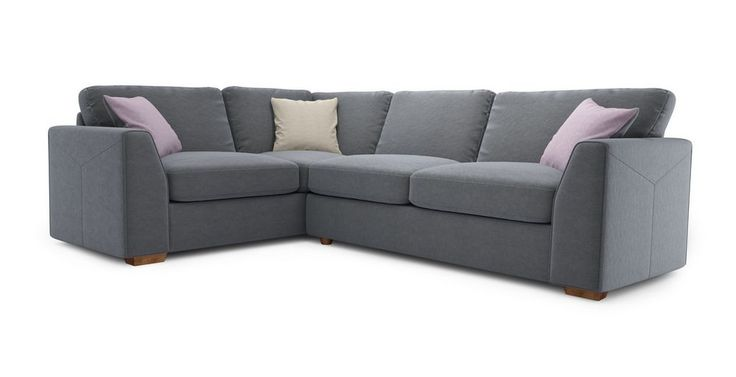 Blanche Right Hand Facing Deluxe Corner Sofa Bed  Sherbet | DFS