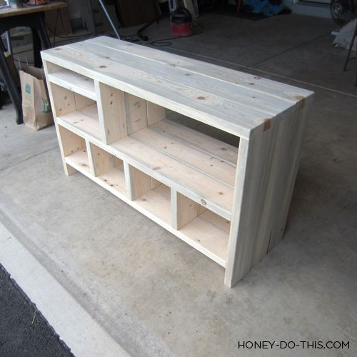 DIY changing table would work for toy and bag storage also.