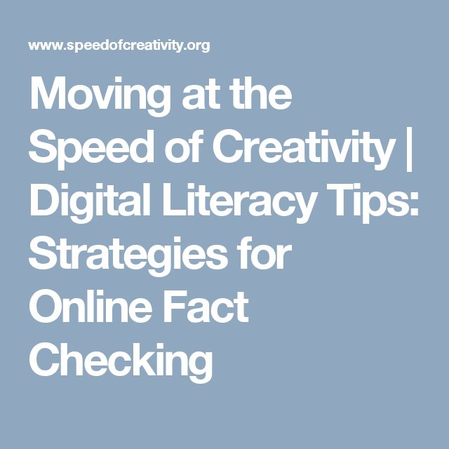 48 best information literacy images on pinterest fake news moving at the speed of creativity digital literacy tips strategies for online fact checking fandeluxe Image collections