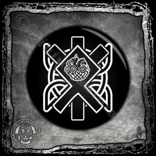 Othala Algiz Bindrune - Badge/Button/Pin