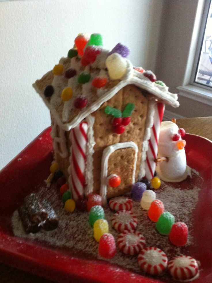 Carton House: Easy Ginger Bread House Made From Graham Crackers And A