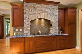 Stacked Stone Range Hood Kitchens With Stone Work