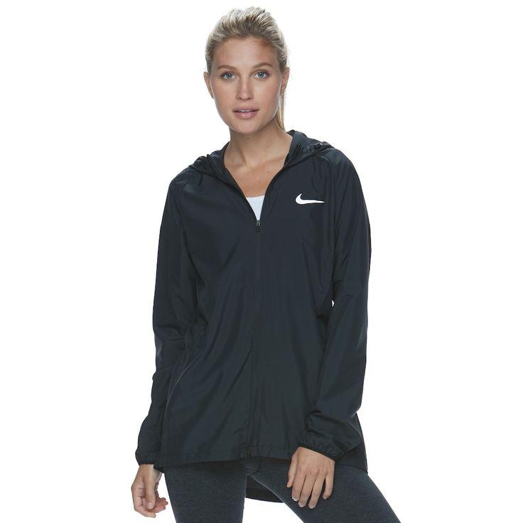 Women's Nike Running Jacket, Size: Medium, Grey (Charcoal)