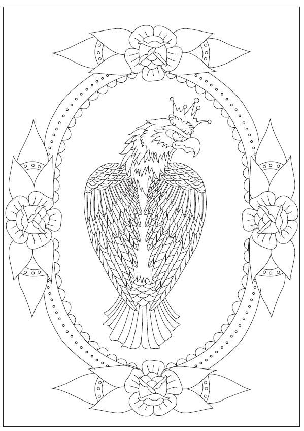 84 best finished coloring pages images on pinterest for Birds of prey coloring pages