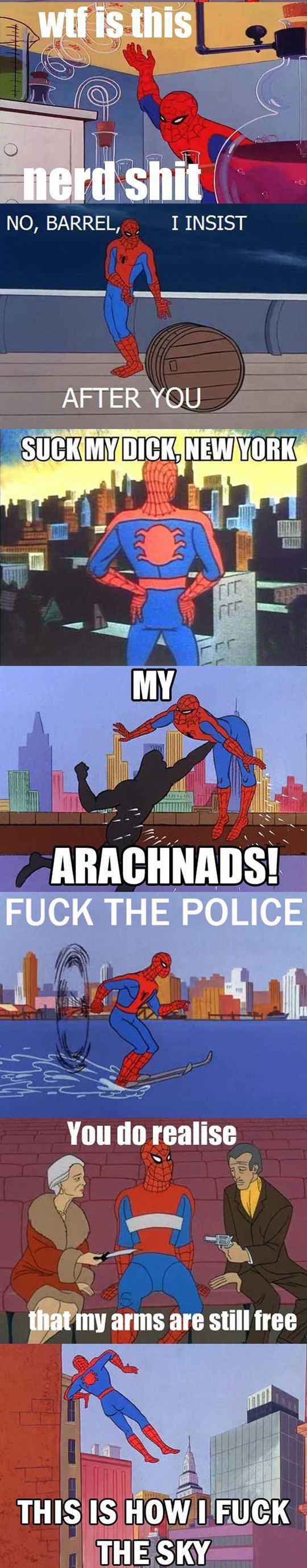 60's Spiderman. Chelsea I have been looking for these everywheereee! Hahahaha