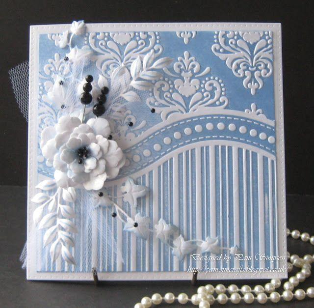 Pam's Crafts: One Embossing Folder! Three Cards. All-occasion That Folder 3-in-1 Embossing Folder & Stamp Set