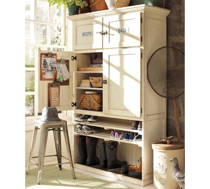 Pottery barn entry cabinet this could totally be for Pottery barn foyer ideas