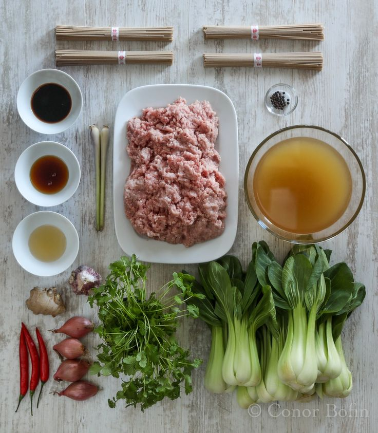 Thai Style Meatballs Recipe | One Man's Meat  That's how to do an ingredients shot.