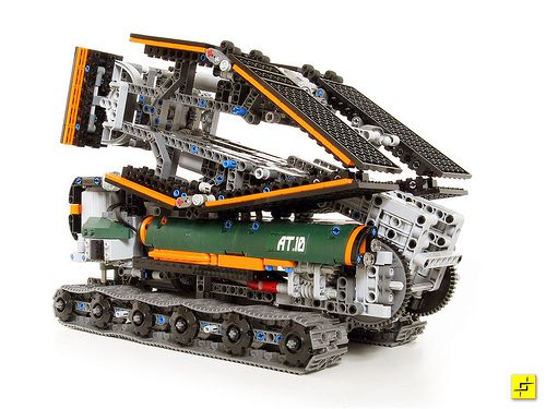 LEGO Military Bridge Launching Vehicle Folded Up